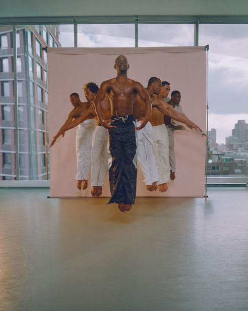 Micaiah CARTER c/o GIANT ARTISTS photographed  AILEY II for OUT MAGAZINE