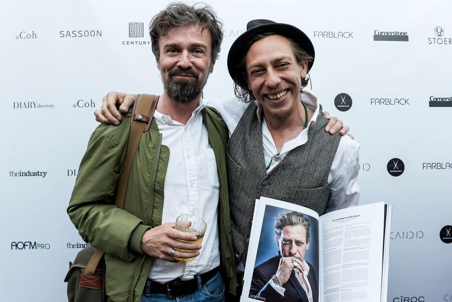 BERND OTT & MILTON WELSH at the Candid Launch Party in London